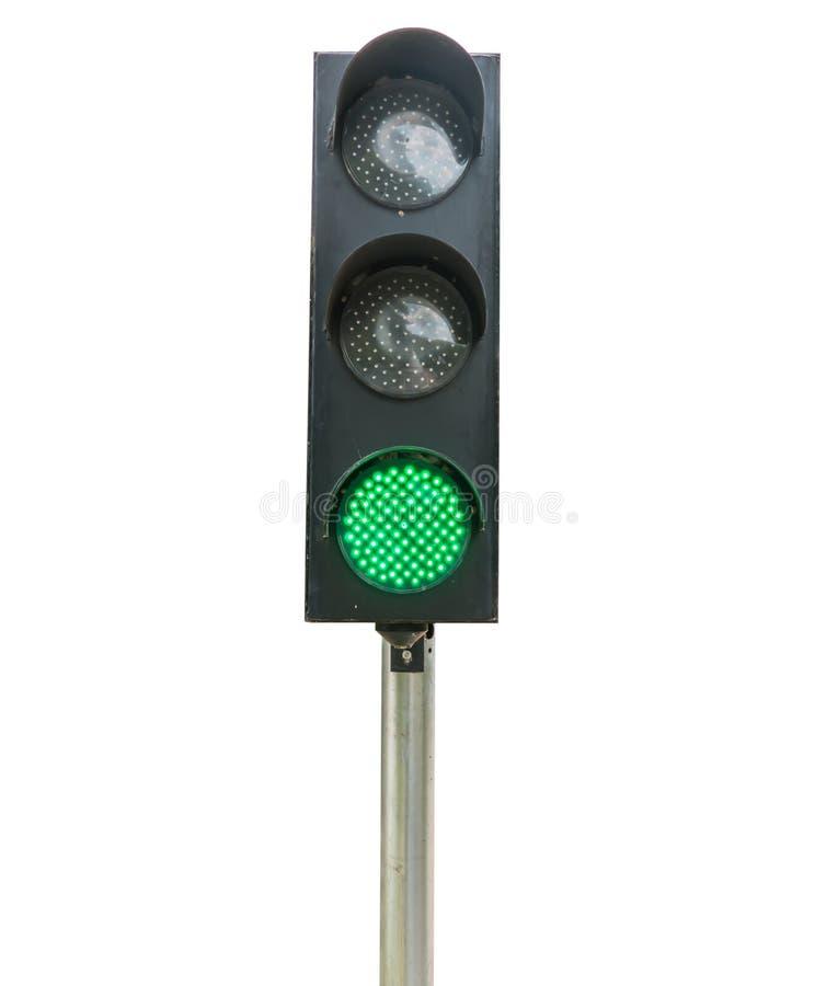 Изолированные светофоры стоковые изображения rf
