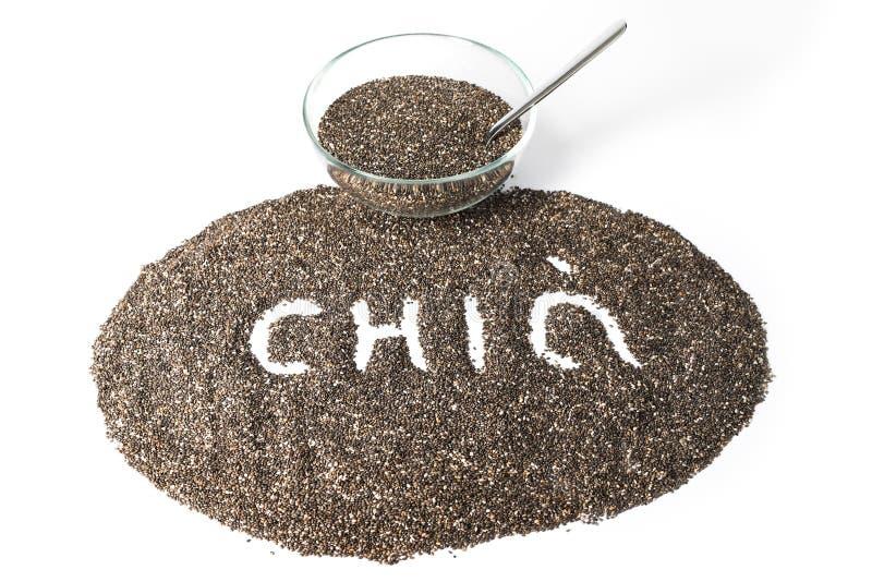 Изолированные семена Chia стоковые фото