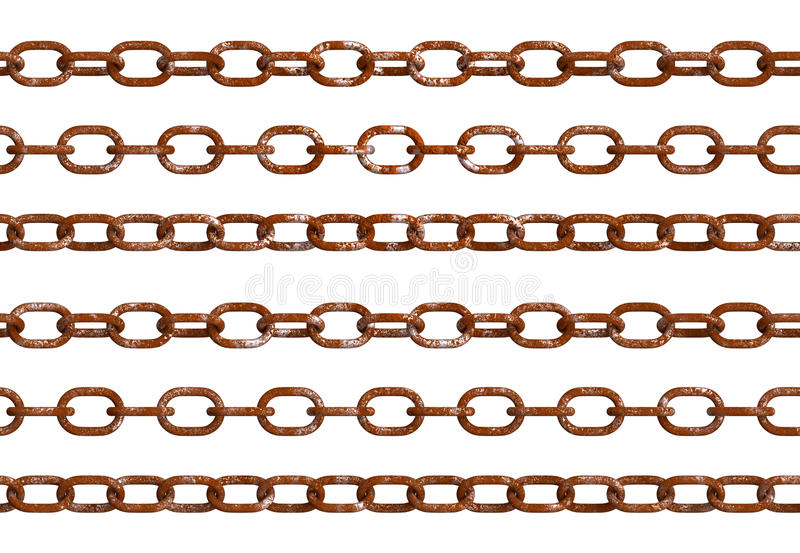 Изолированные старые ржавые цепи бесплатная иллюстрация