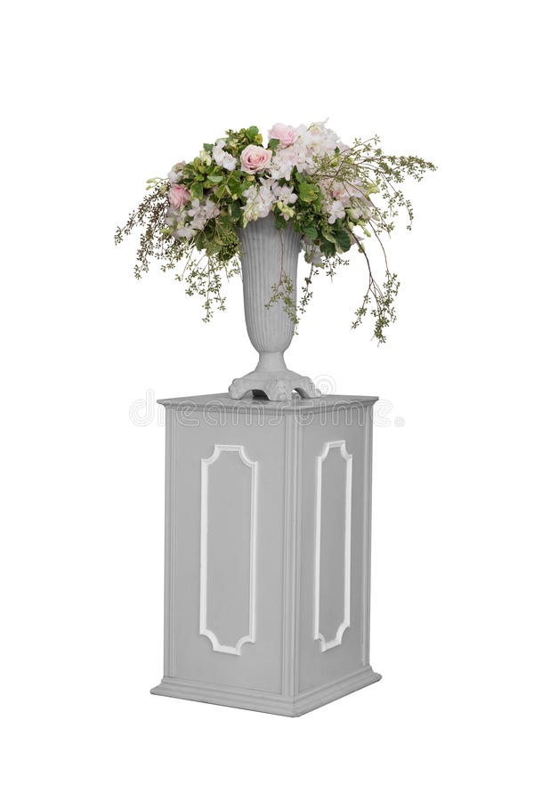 Изолированные цветок и ваза стоковые изображения