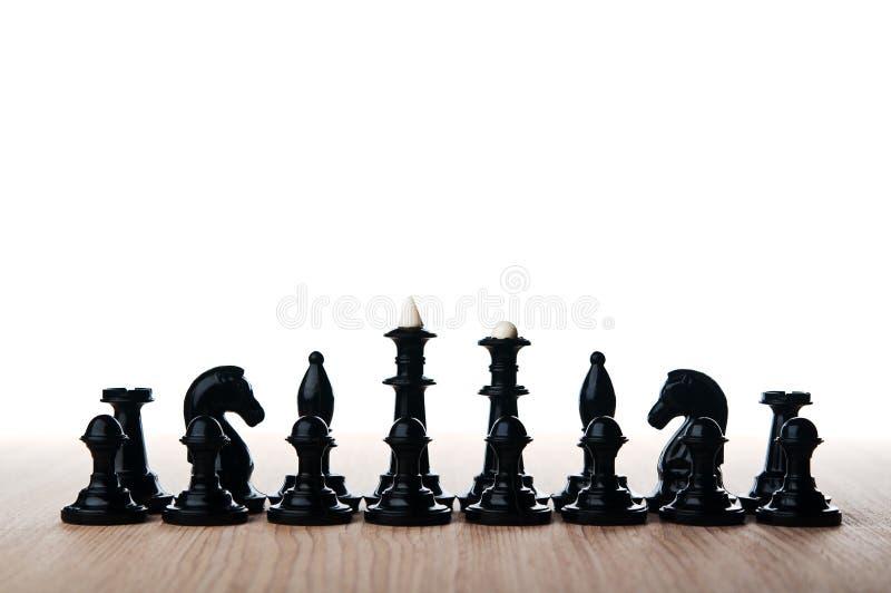 Изолированные части шахмат стоковое фото rf