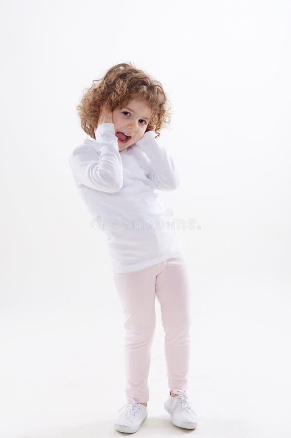 Изолированные эмоции детей стоковые фотографии rf