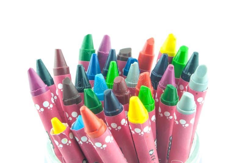 Изолированные crayons масла стоковое изображение rf