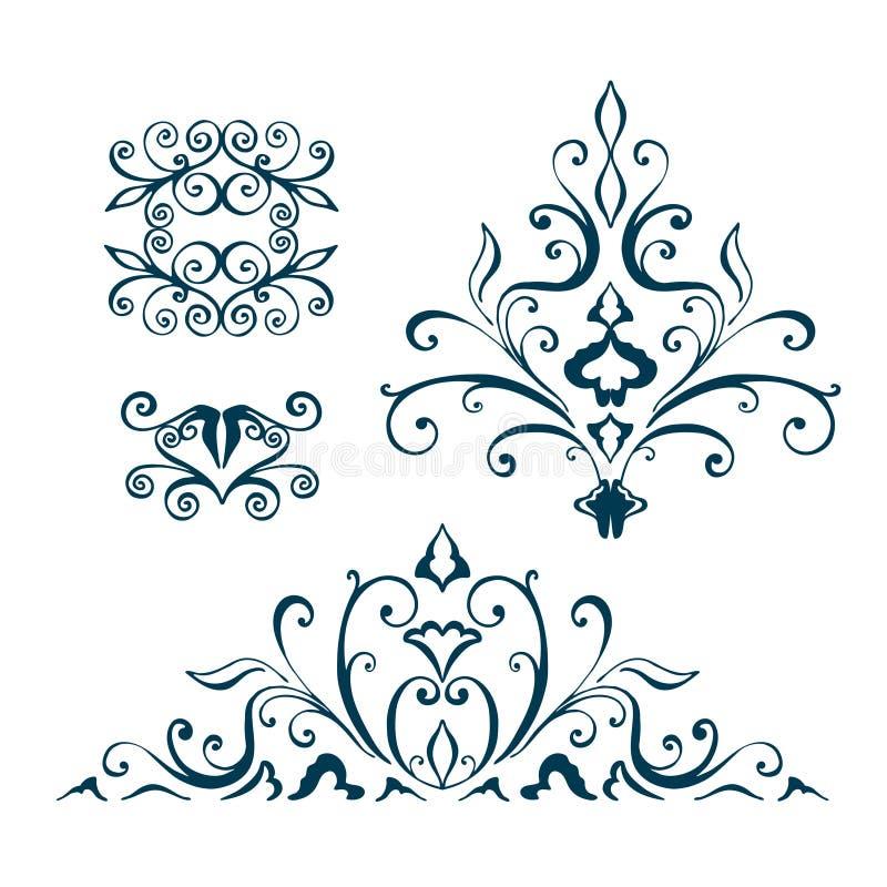 Изолированный абстрактный цветочный узор вектор иллюстрация штока