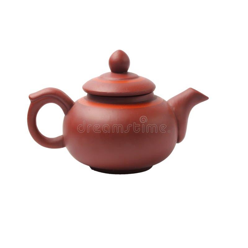 Изолированный бак чая стоковая фотография rf