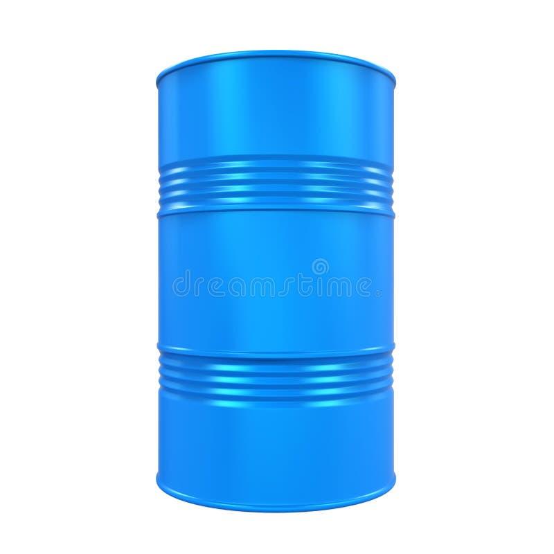 Изолированный барабанчик синего масла иллюстрация штока