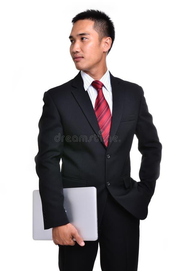 Изолированный бизнесмен беспокойства стоковое изображение
