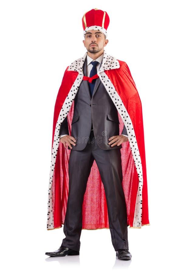Изолированный бизнесмен короля стоковая фотография