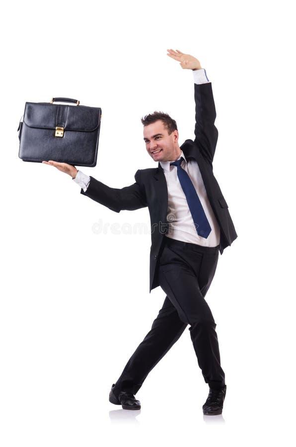 Изолированный бизнесмен танцев стоковые фотографии rf