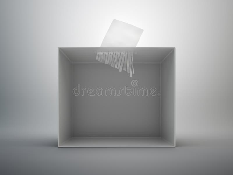 изолированный бумажный шредер стоковые изображения rf