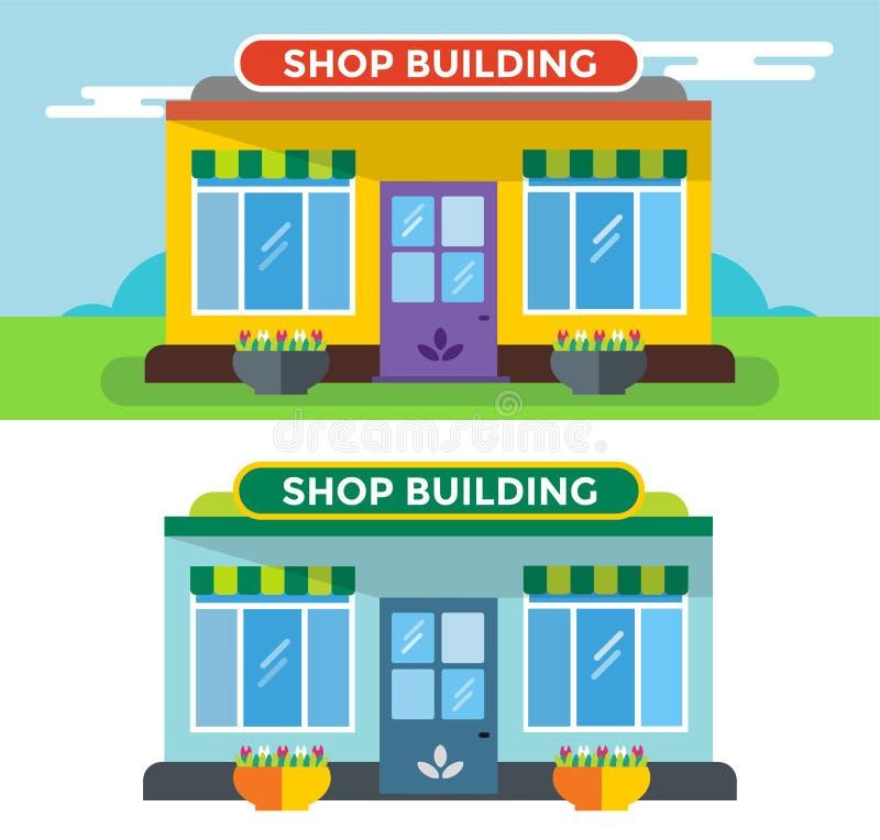 Изолированный вектор зданий магазина бесплатная иллюстрация