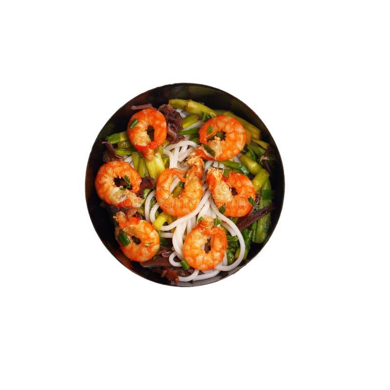 Изолированный въетнамский суп pho креветки стоковое изображение rf