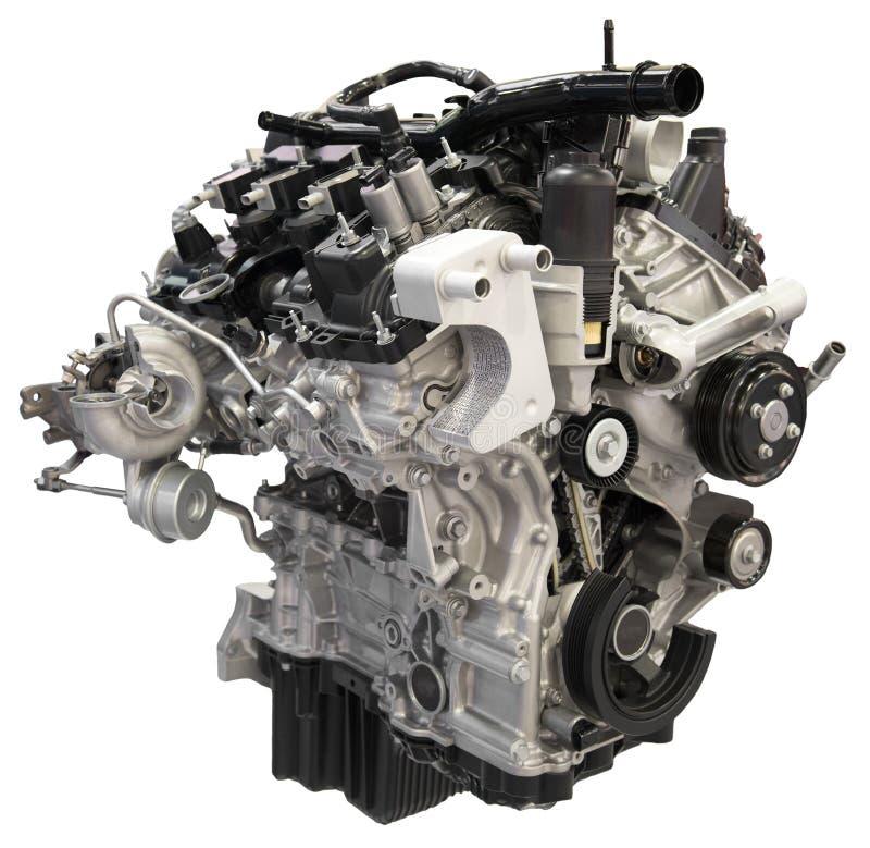 Изолированный вырез мотора двигателя автомобиля автоматический стоковые изображения