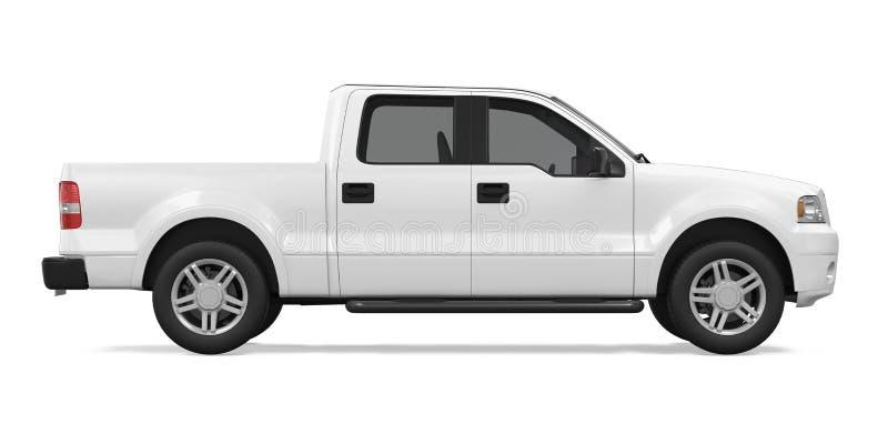 изолированный грузовой пикап иллюстрация штока