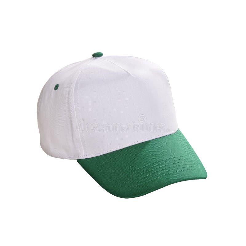 Изолированный зеленый цвет бейсбольной кепки стоковое изображение rf