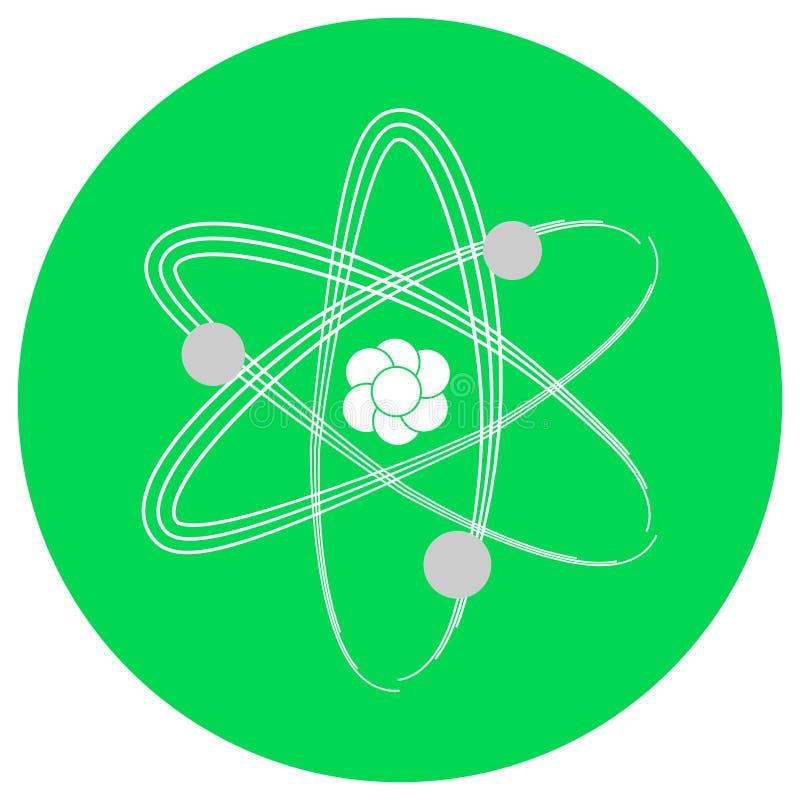 Изолированный значок атома иллюстрация вектора