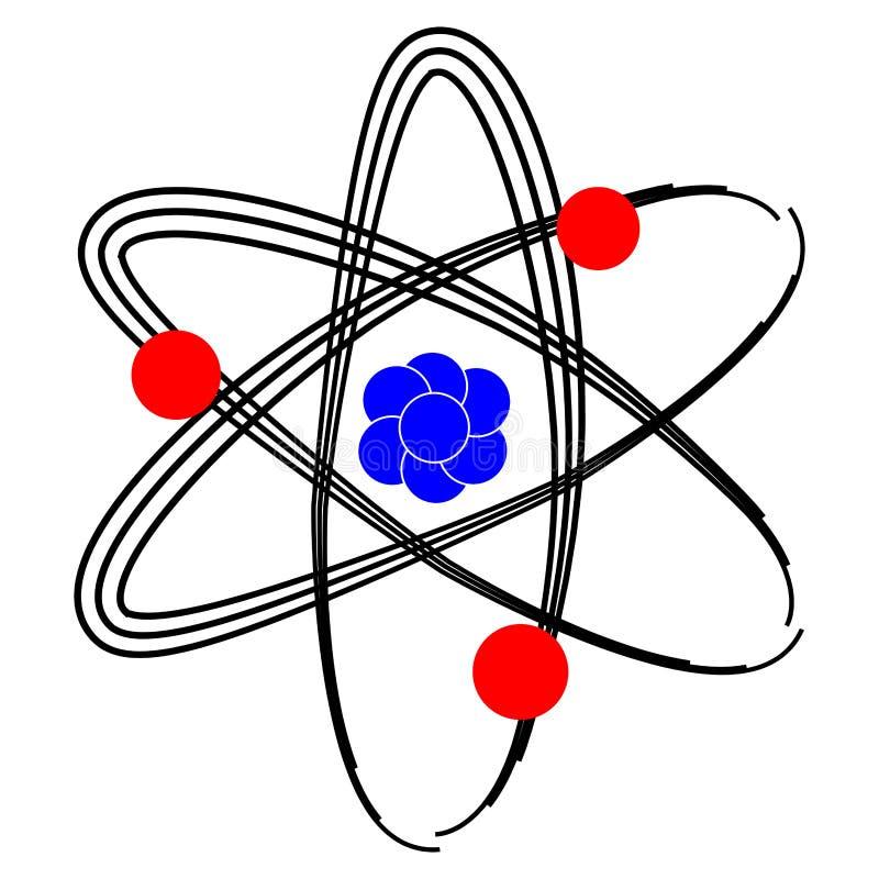 Изолированный значок атома бесплатная иллюстрация