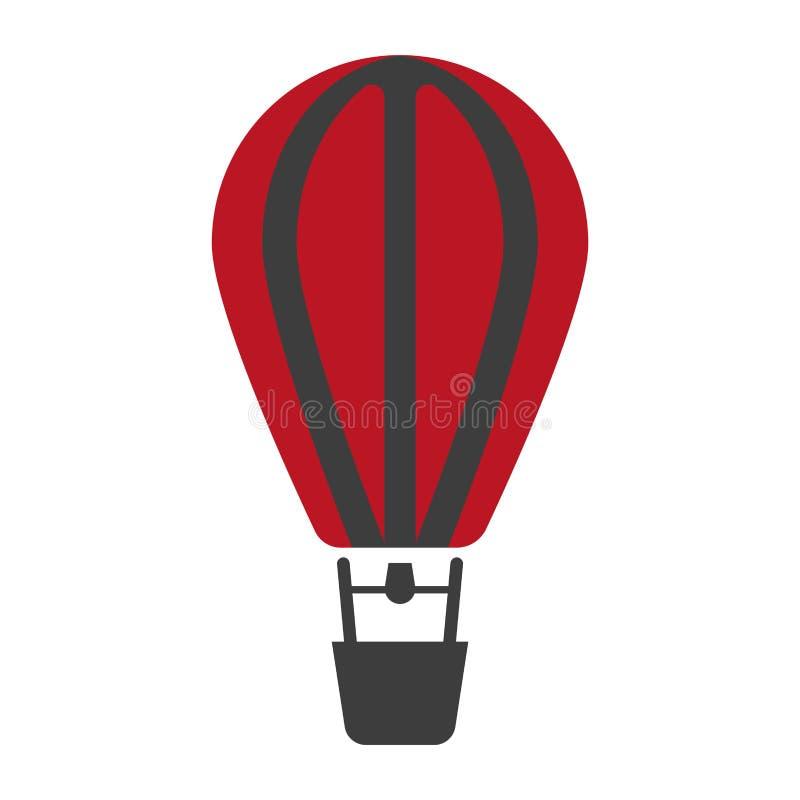 Изолированный значок воздушного шара в красных и черных цветах бесплатная иллюстрация