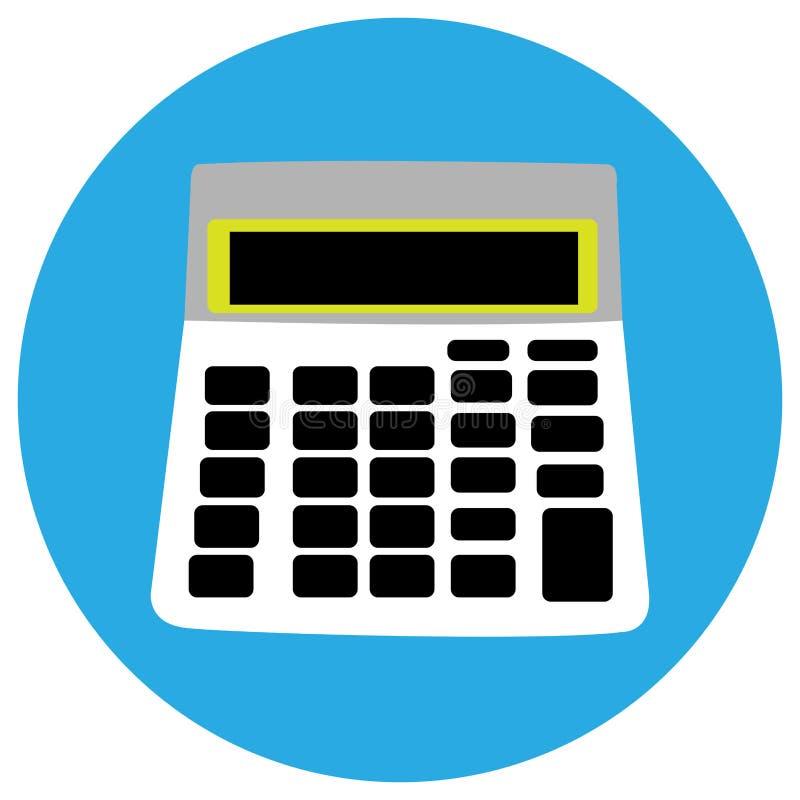 Изолированный значок калькулятора иллюстрация вектора