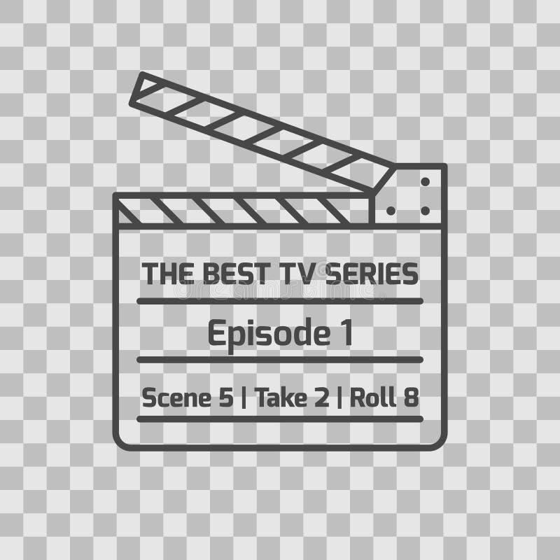 Изолированный значок телесериала тонко выровнянный законспектированный бесплатная иллюстрация