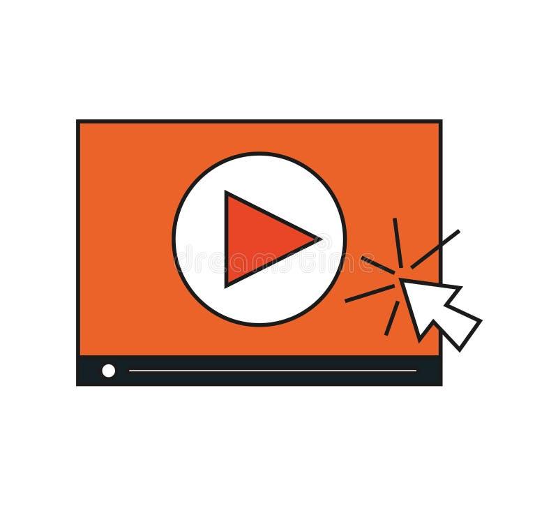 Изолированный дизайн кино видео- иллюстрация штока