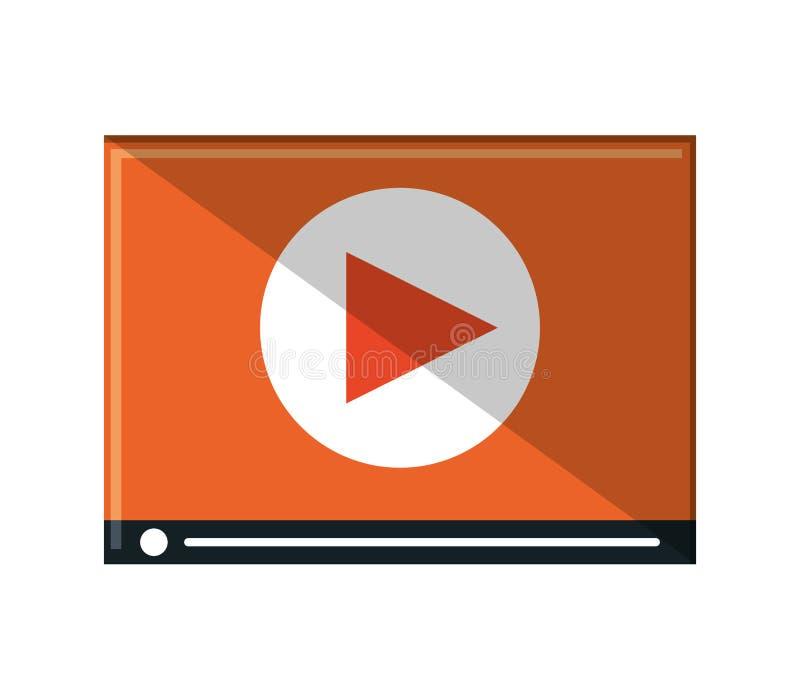 Изолированный дизайн кино видео- иллюстрация вектора