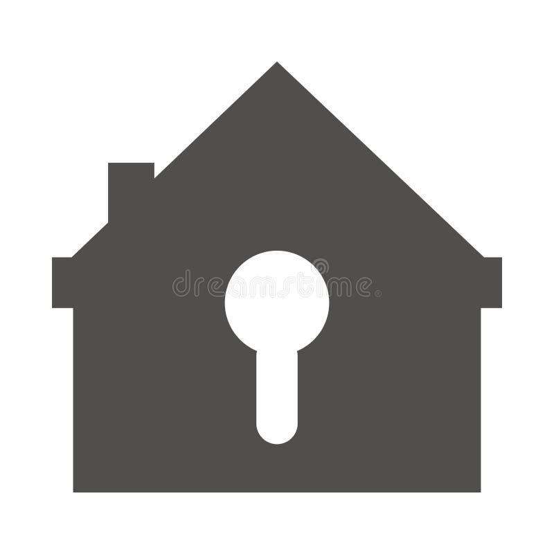 Изолированный дизайн дома и ключа бесплатная иллюстрация