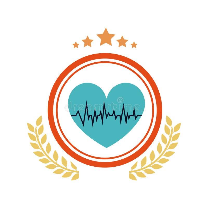 Изолированный дизайн сердца и ИМПа ульс бесплатная иллюстрация