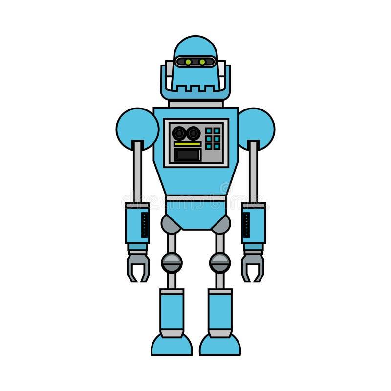 Изолированный дизайн шаржа робота бесплатная иллюстрация