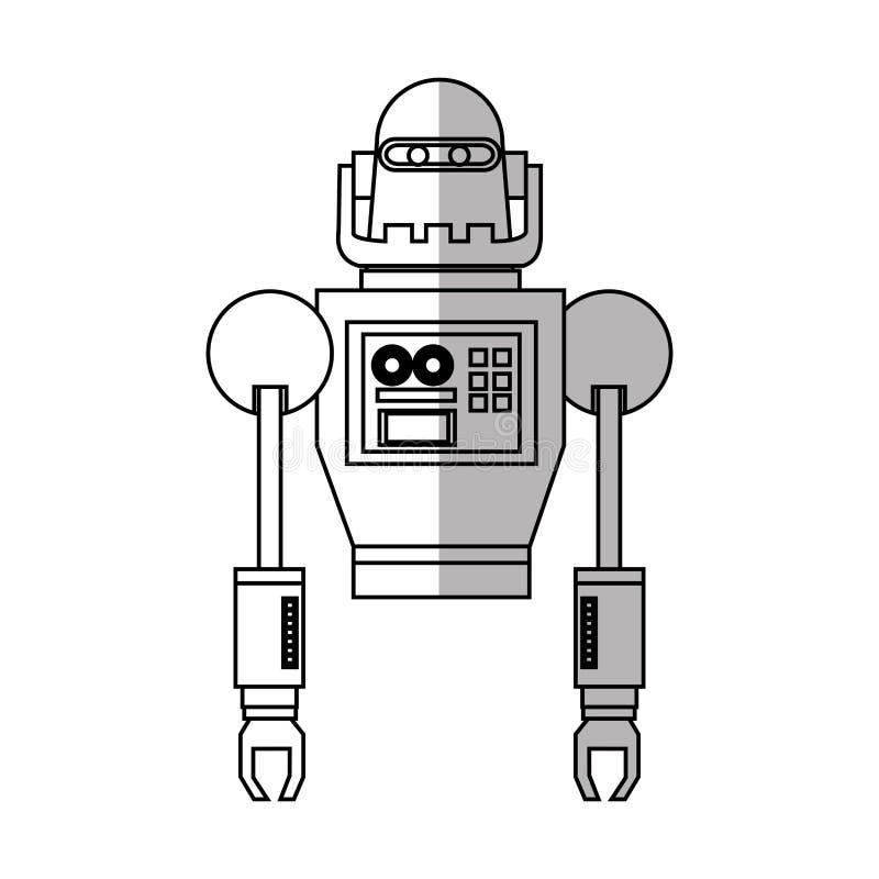Изолированный дизайн шаржа робота иллюстрация вектора