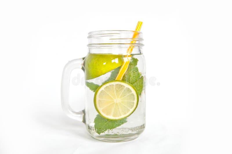 Изолированный лимонад мяты известки стоковая фотография rf