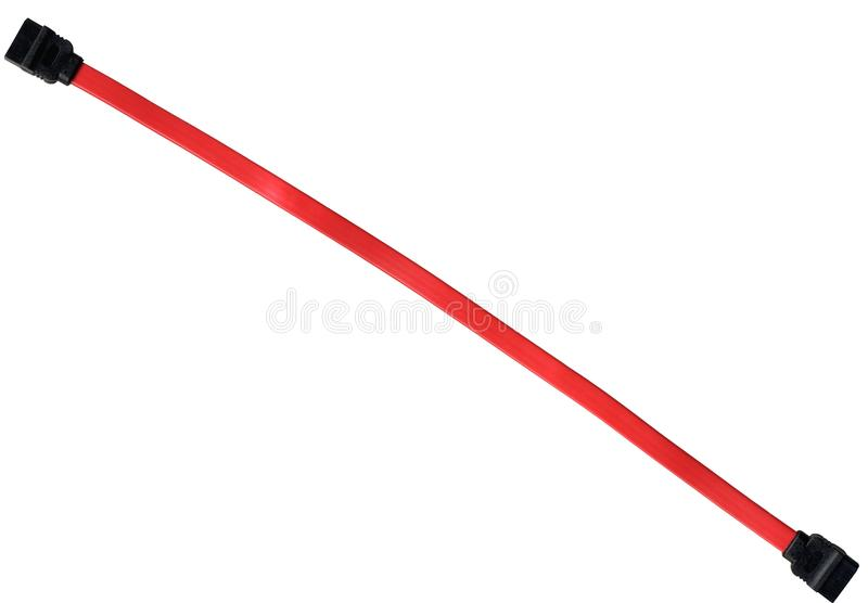 Изолированный кабель SATA стоковая фотография