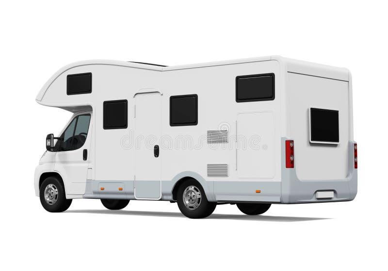 Изолированный караван RV иллюстрация штока