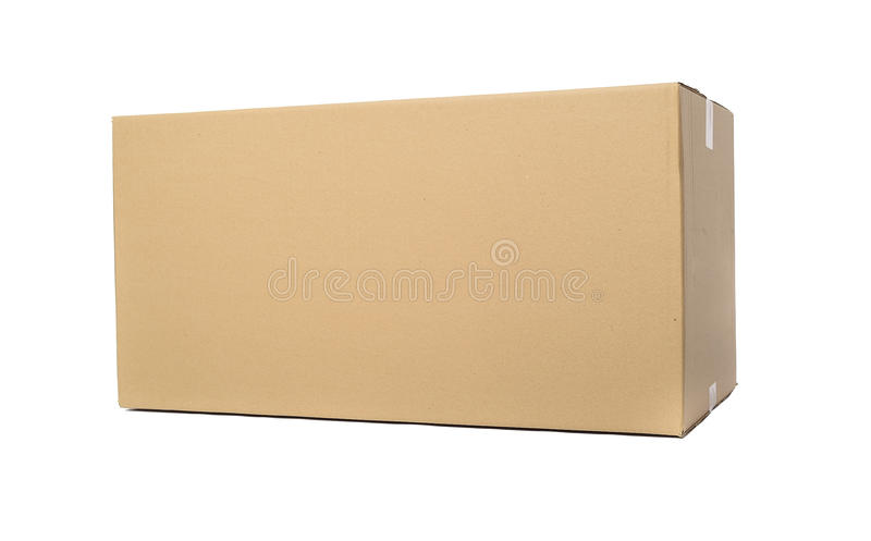 изолированный картон коробки затеняет белизну стоковая фотография rf
