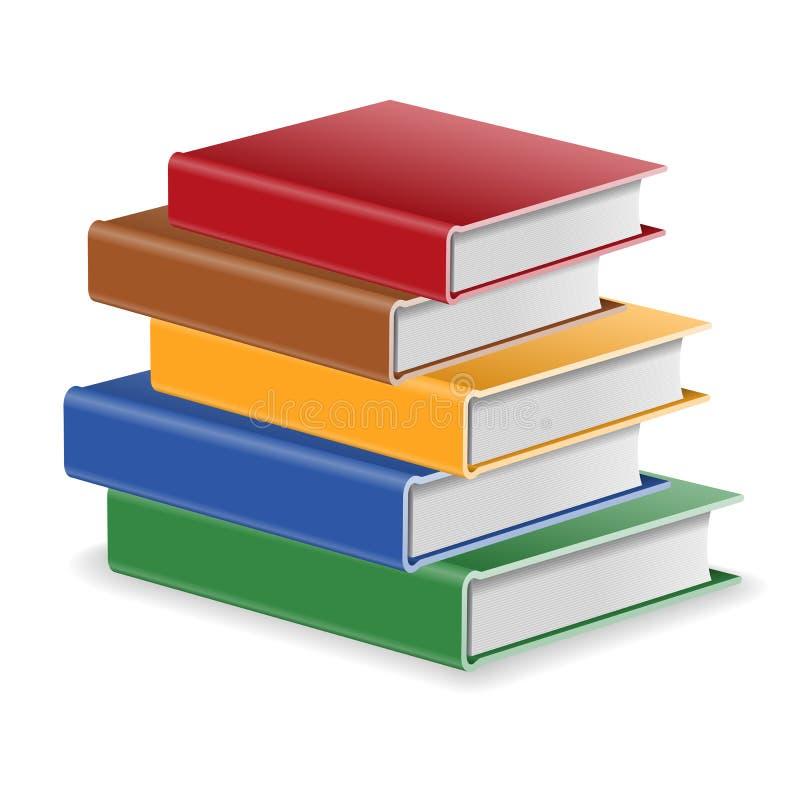 изолированный книгами стог серии иллюстрация вектора