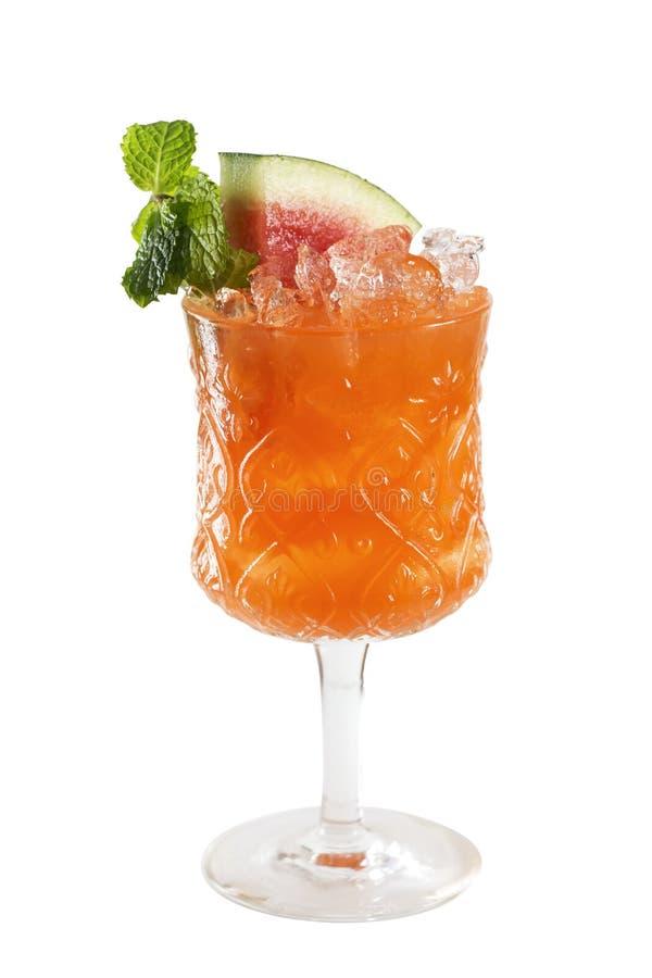 Изолированный коктеиль Mojito арбуза стоковая фотография