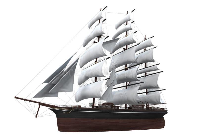 Изолированный корабль ветрила стоковые фотографии rf