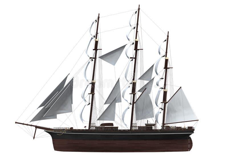 Изолированный корабль ветрила стоковое фото