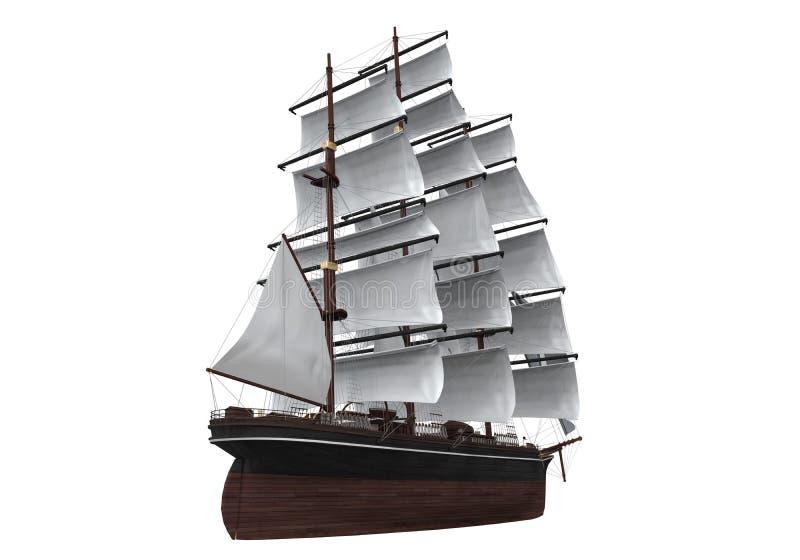Изолированный корабль ветрила стоковая фотография rf