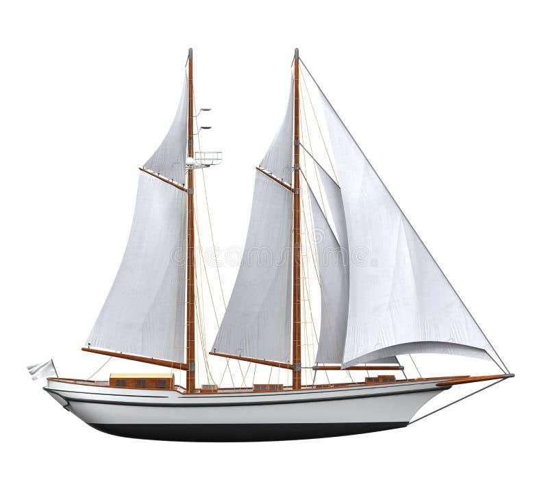 изолированный корабль ветрила бесплатная иллюстрация