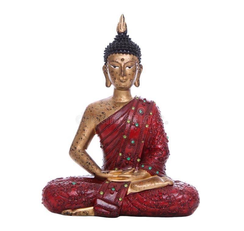 Изолированный красный Будда стоковые изображения
