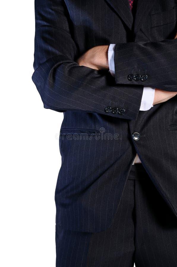 Изолированный молодой бизнесмен стоковое фото rf