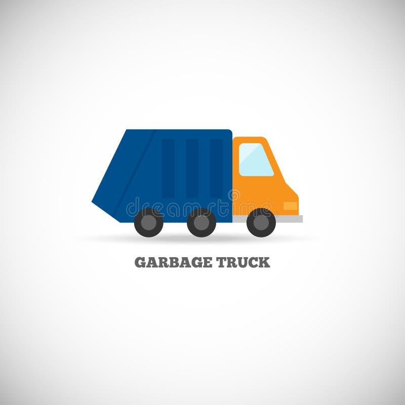 Изолированный мусоровоз иллюстрация штока