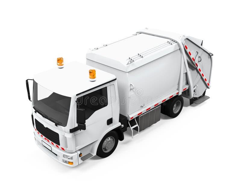 Изолированный мусоровоз иллюстрация вектора