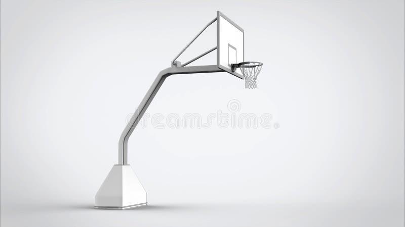 Изолированный обруч баскетбола иллюстрация вектора