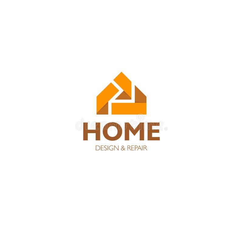 Изолированный логотип дела имущественного агентства недвижимости, логотип дома на белой предпосылке, домашнем значке концепции, в иллюстрация штока