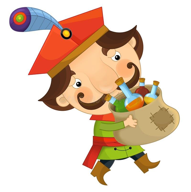 Изолированный персонаж из мультфильма - дворянин - иллюстрация вектора