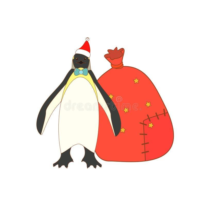 Изолированный пингвин короля рождества бесплатная иллюстрация