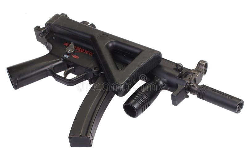 Изолированный пистолет-пулемет MP5 стоковые фото