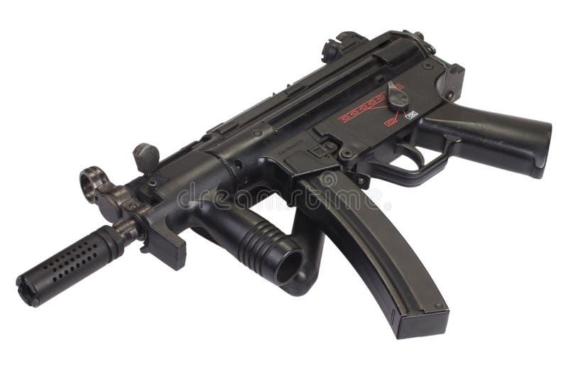 Изолированный пистолет-пулемет MP5 стоковая фотография